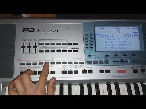Saved Styles to Factory Styles Korg pa50sd