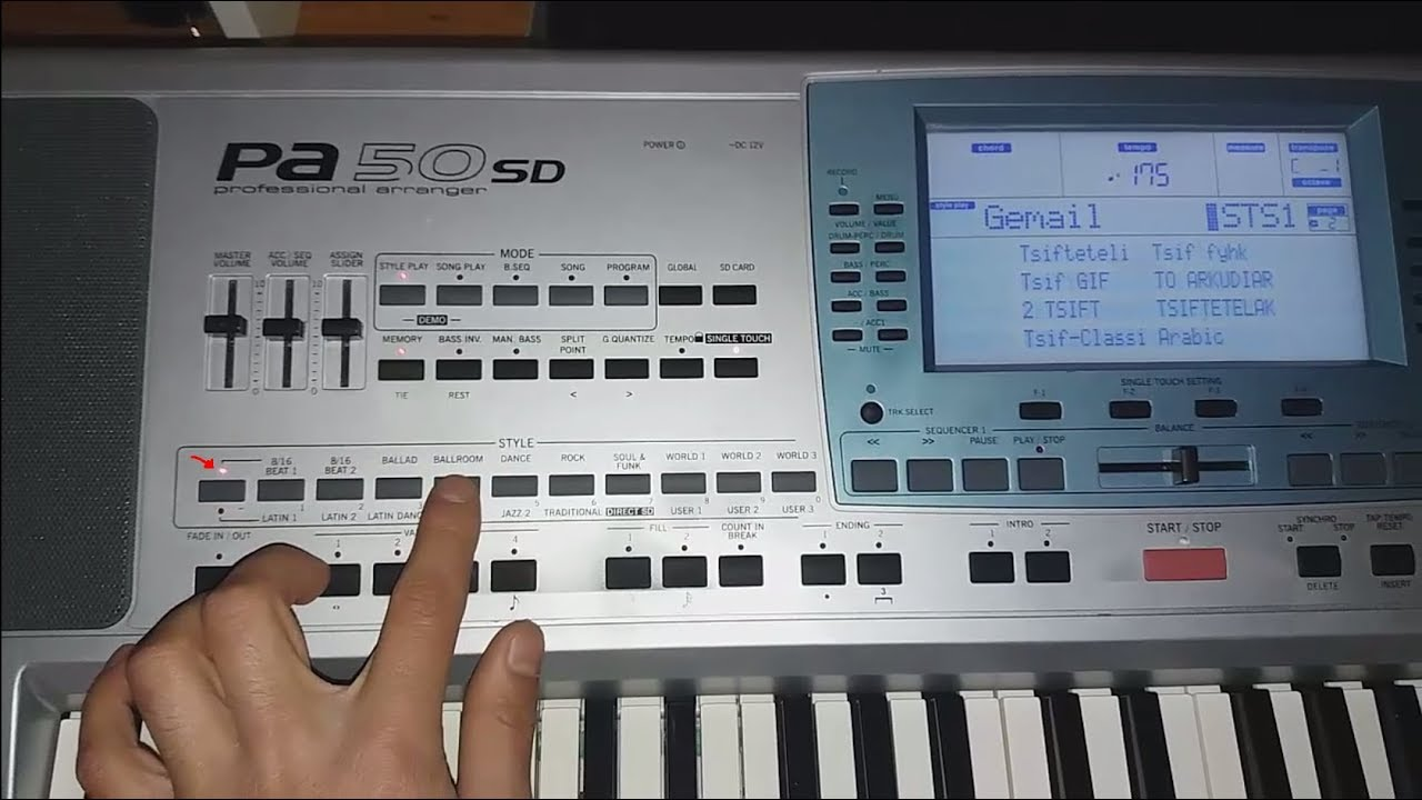 Saved Styles To Factory Styles Korg Pa50sd Youtube
