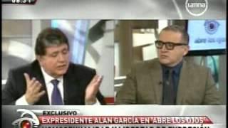 Entrevista a Alan García, programa abre los ojos del 13/08/...