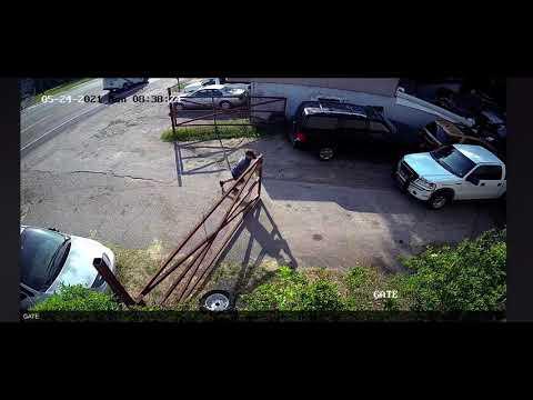 Guy Face Slamming Into Gate