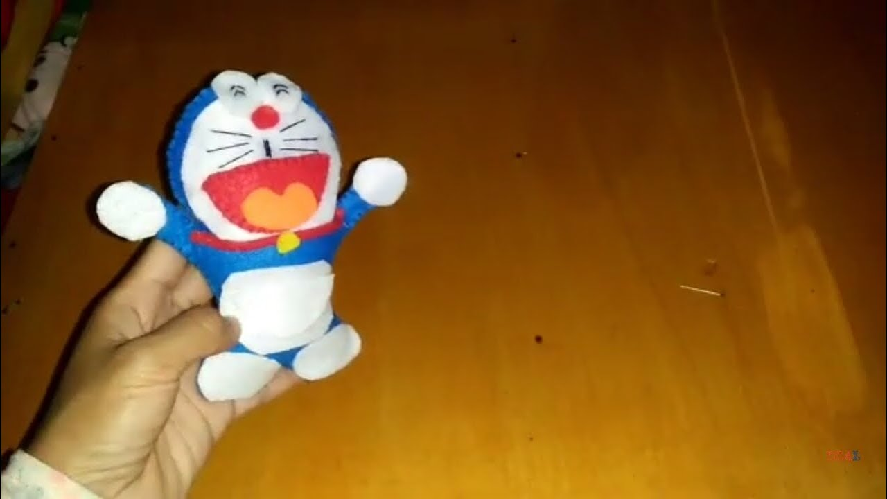 Cara Membuat Boneka Doraemon Dari Planel Diy Doraemon Doll From Felt Youtube