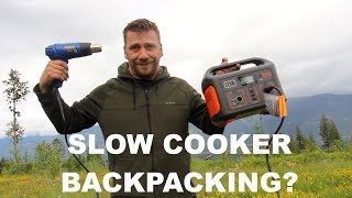 Jackery Explorer 500 Portable Power Station Review With Hairdryer & Slow Cooker On A Hiking Trip?