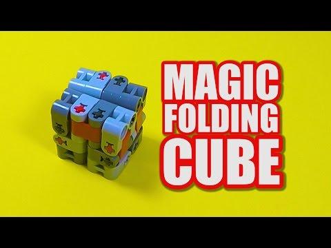 LEGO Magic Folding Cube Tutorial - LEGO Fidget Toy Idea