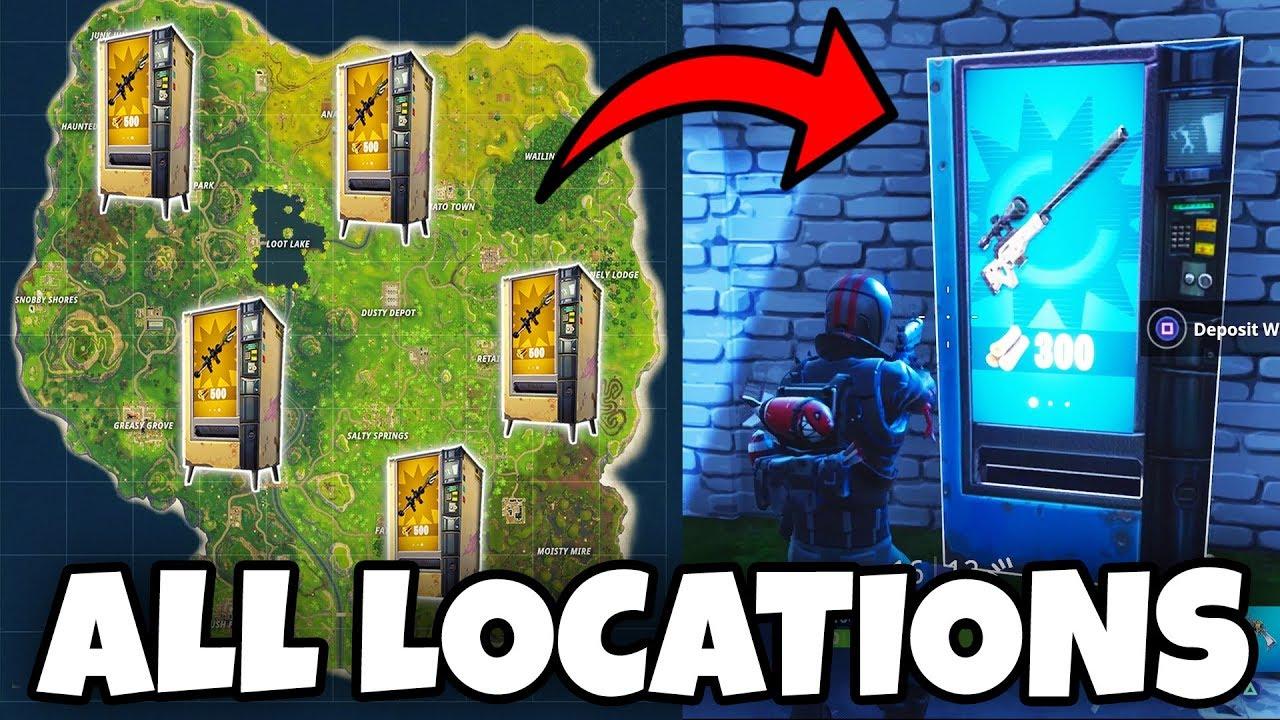 ALL 33 Vending Machine LOCATIONS In Fortnite
