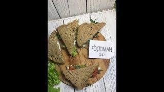Бутерброды для перекуса с рукколой, тунцом, листьями салата и яйцами: рецепт от Foodman.club