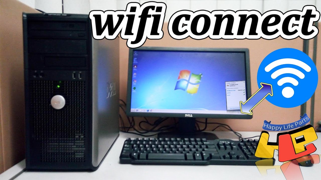 How To Connect Wifi With Desktop Computer Youtube