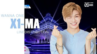 How would WANNA ONE sing PRODUCE X 101 - 'X1-MA' (with Line Distribution)