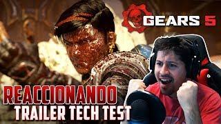 reaccionando al trailer tech test de gears 5