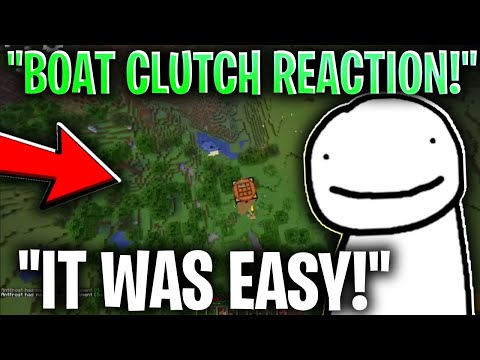Dream REACTS TO HIS BOAT CLUTCH In MANHUNT!