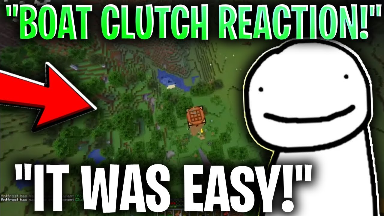 Download Dream REACTS TO HIS BOAT CLUTCH In MANHUNT!