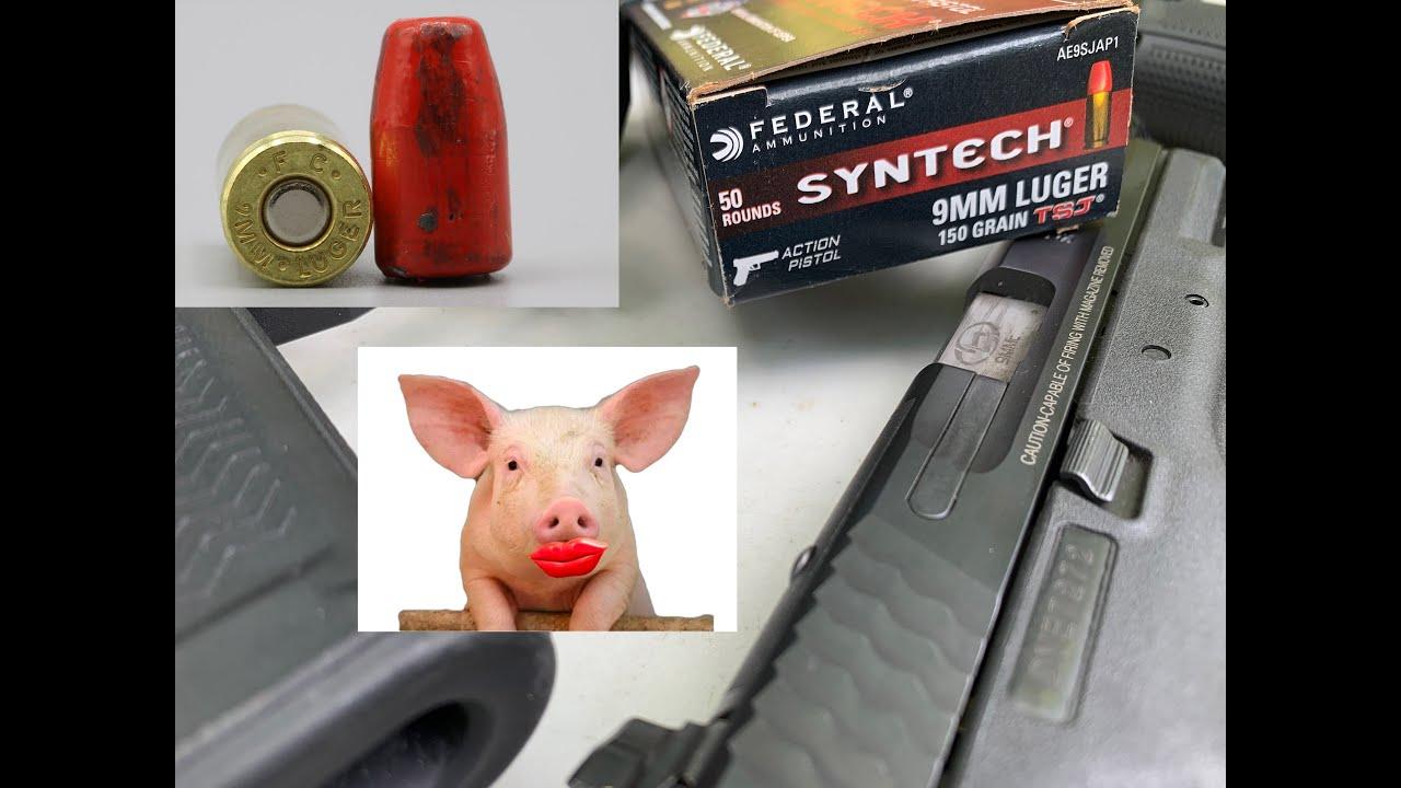 9x19mm, 150gr TSJ, Federal Ammunition, Syntech (AE9SJAP1)
