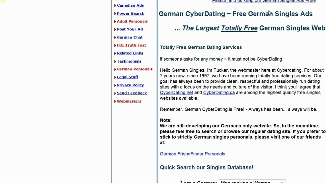 Free german dating sites in english