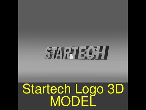 3D Model of Startech Logo Review