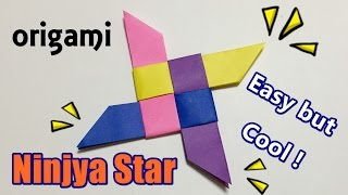How to make a paper ninja star easy for kids | Origami weapon Syuriken 4 pointed easy but cool