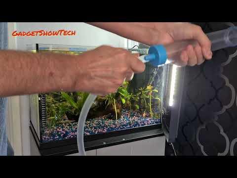 How To Use Gravel Cleaner Siphon Vacuum In Fish Tank Aquarium