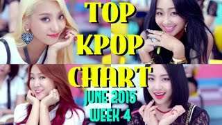 TOP 30 KPOP CHART JUNE 2015 (WEEK 4) - 6 NEW SONGS