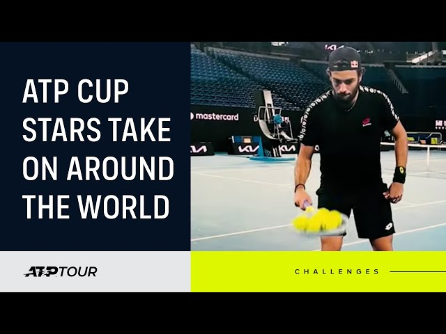 Players Take On Around The World Challenge For 2021 ATP Cup