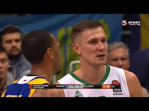 Paulius Jankūnas vs. Chimki (2017.10.20) 24 points & 8 rebounds