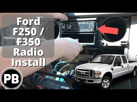 2008 - 2012 Ford F250 / F350 Radio Install