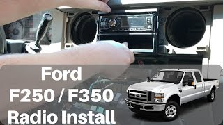 2008 - 2012 Ford F250 / F350 Radio install - YouTube | Ford F350 Stereo Wiring |  | YouTube