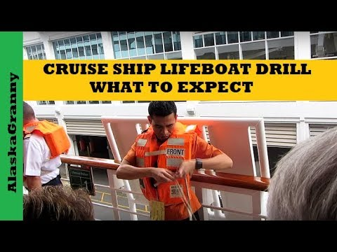 Cruise Ship Life Boat Drill - What To Expect