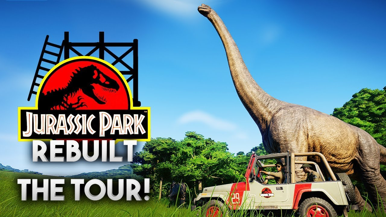THE JURASSIC PARK TOUR | Jurassic Park 1993 Rebuilt (Jurassic World: Evolution)
