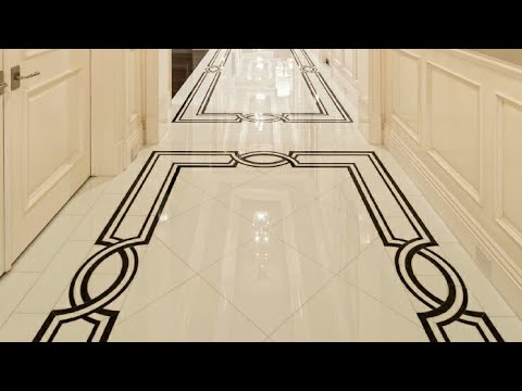 Marble Floor Design Corridor With Borders Youtube