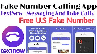 Textnow - Messaging & Fake Calls | Calling With Fake Number For Free | Best Fake Call App | Techno |
