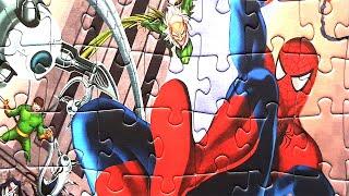 Человек Паук - Собираем пазлы с героями мультика - Spider Man