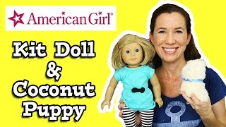 American Girl Doll Kit & Coconut Puppy