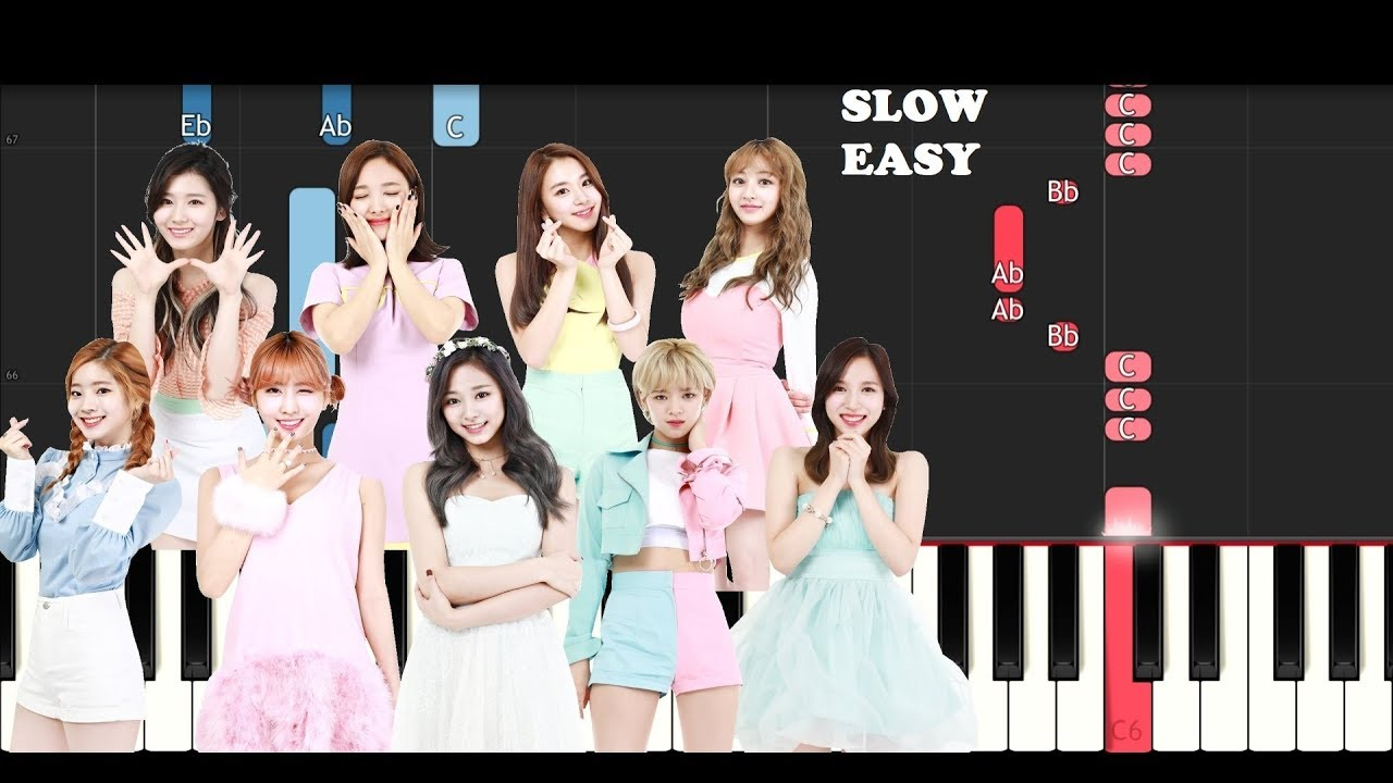 Twice - What Is Love (SLOW EASY PIANO TUTORIAL)