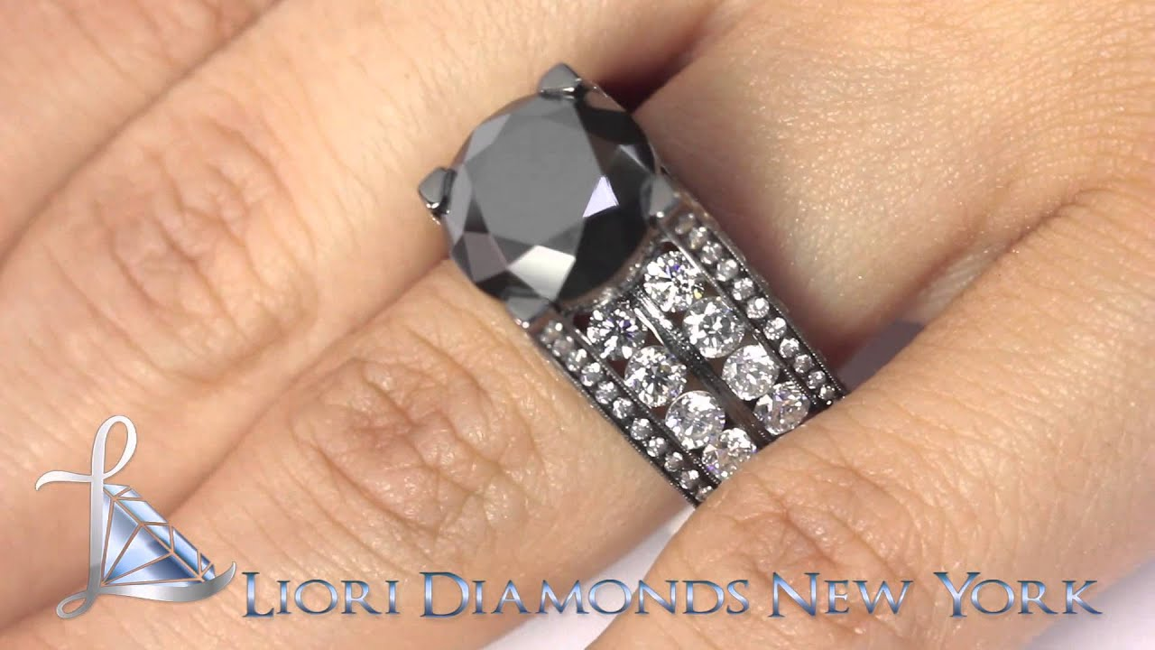 BDR234 1263 Carat Certified Natural Black Diamond Engagement