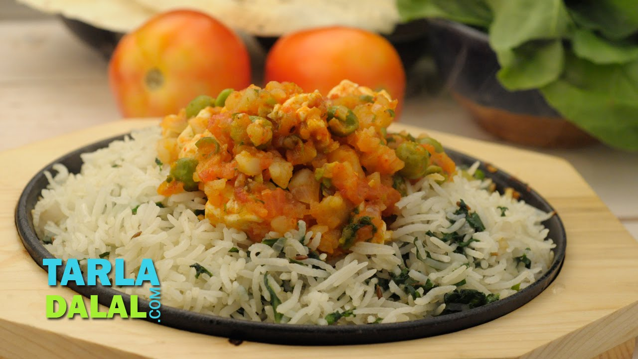 Rice and curry sizzler by tarla dalal youtube forumfinder Image collections