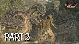 Dragon's Dogma Dark Arisen Walkthrough Part 2 - The Hydra & First Pawn | PS4 Pro Gameplay
