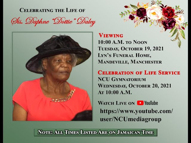 Thanksgiving Service for Ms Daphne 'Dottie' Daley