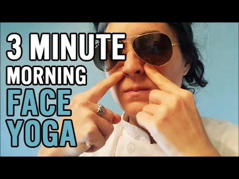 3 minute face yoga easy morning routine  youtube