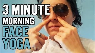 3 Minute Face Yoga (Easy Morning Routine) Thumbnail