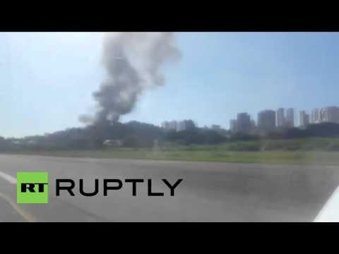 Brazil: 7 killed as millionaire's plane crashes into house near Sao Paulo airport