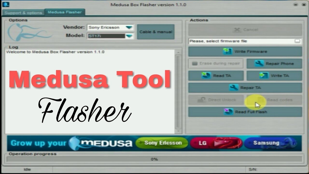 Medusa Flasher v1 1 0 1 Tool (Without box) | Sony & HTC Flash Tool by sahil  tech