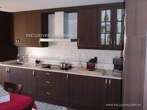 Muebles de cocina en wengue y encimera de silestone - Muebles para encimeras ...