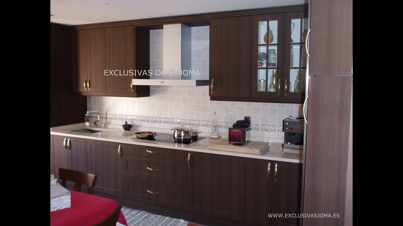Muebles de cocina en wengue y encimera de Silestone  YouTube