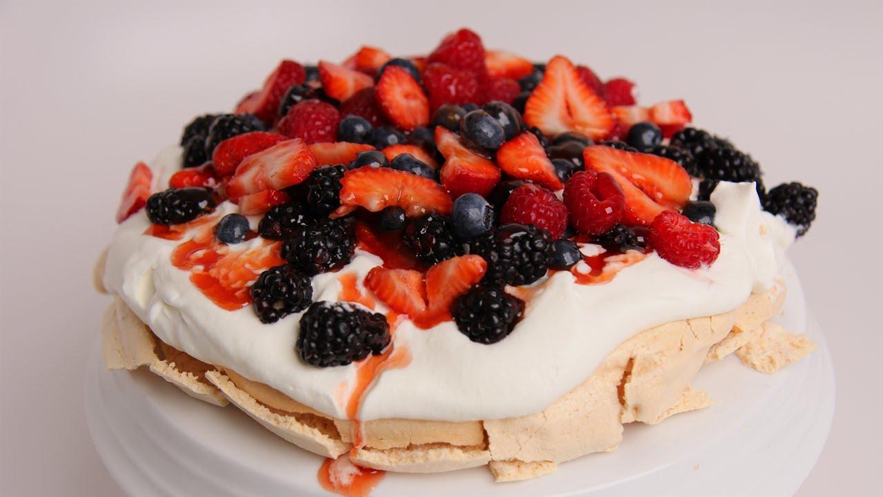 Homemade Pavlova Recipe - Laura Vitale - Laura in the Kitchen Episode ...