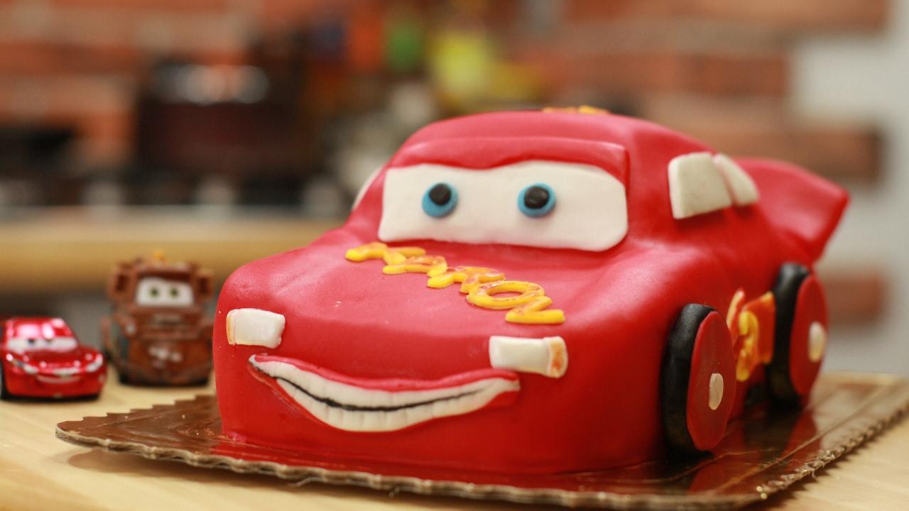 Tort autko zigzag, Disney Lightning McQueen , Cars Cake   -> Kuchnia Dla Dzieci Jak Zrobić
