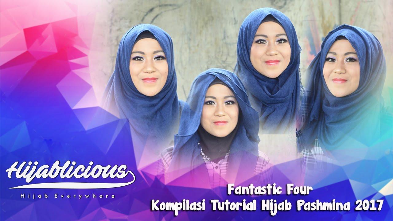 Tutorial Hijab Pashmina Lebaran 2017