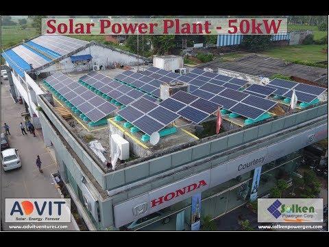 50 kWp Commercial Solar PV Plant Karnal - Haryana || Advit Ventures Solar EPC Expert