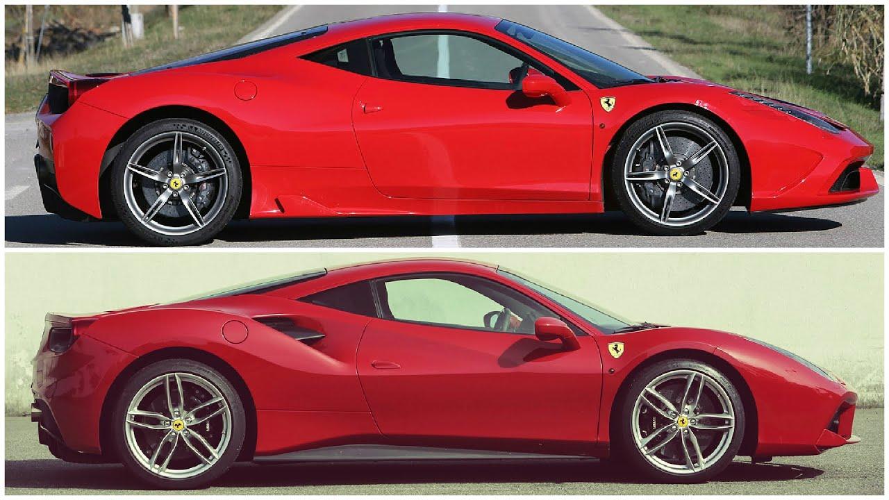 2015 Ferrari 458 Speciale >> Ferrari 488 GTB vs 458 Speciale, comparison - YouTube