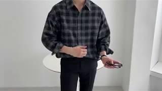 하울링 체크 셔츠 (black)