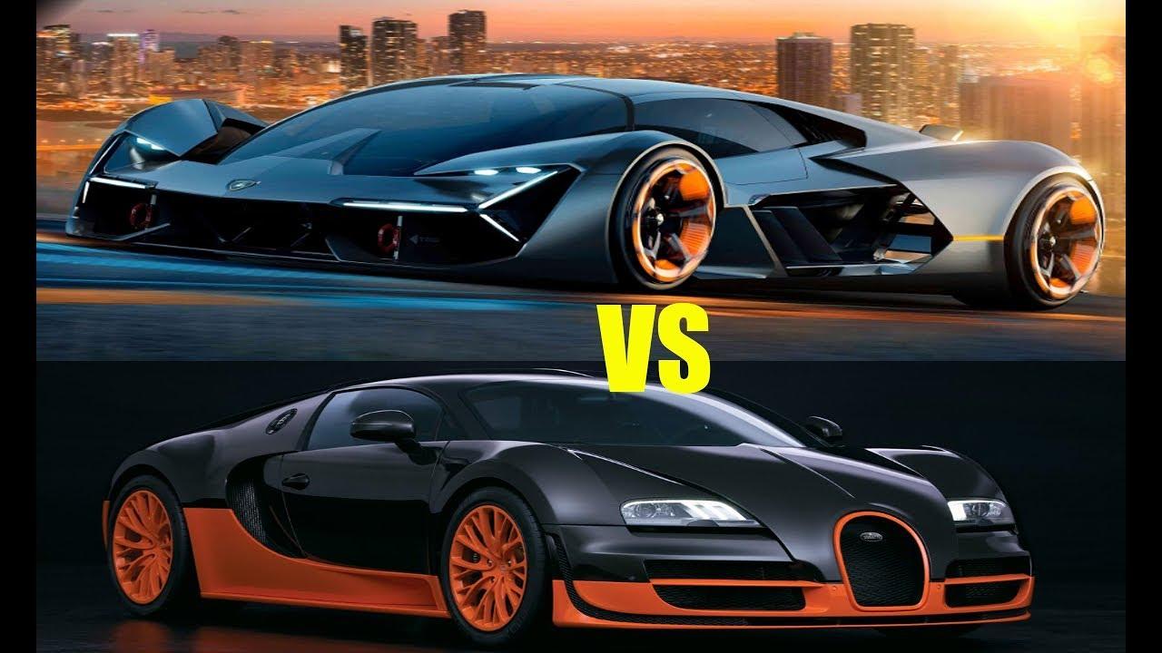 2018 Lamborghini Terzo Vs Bugatti Veyron Spec Compare