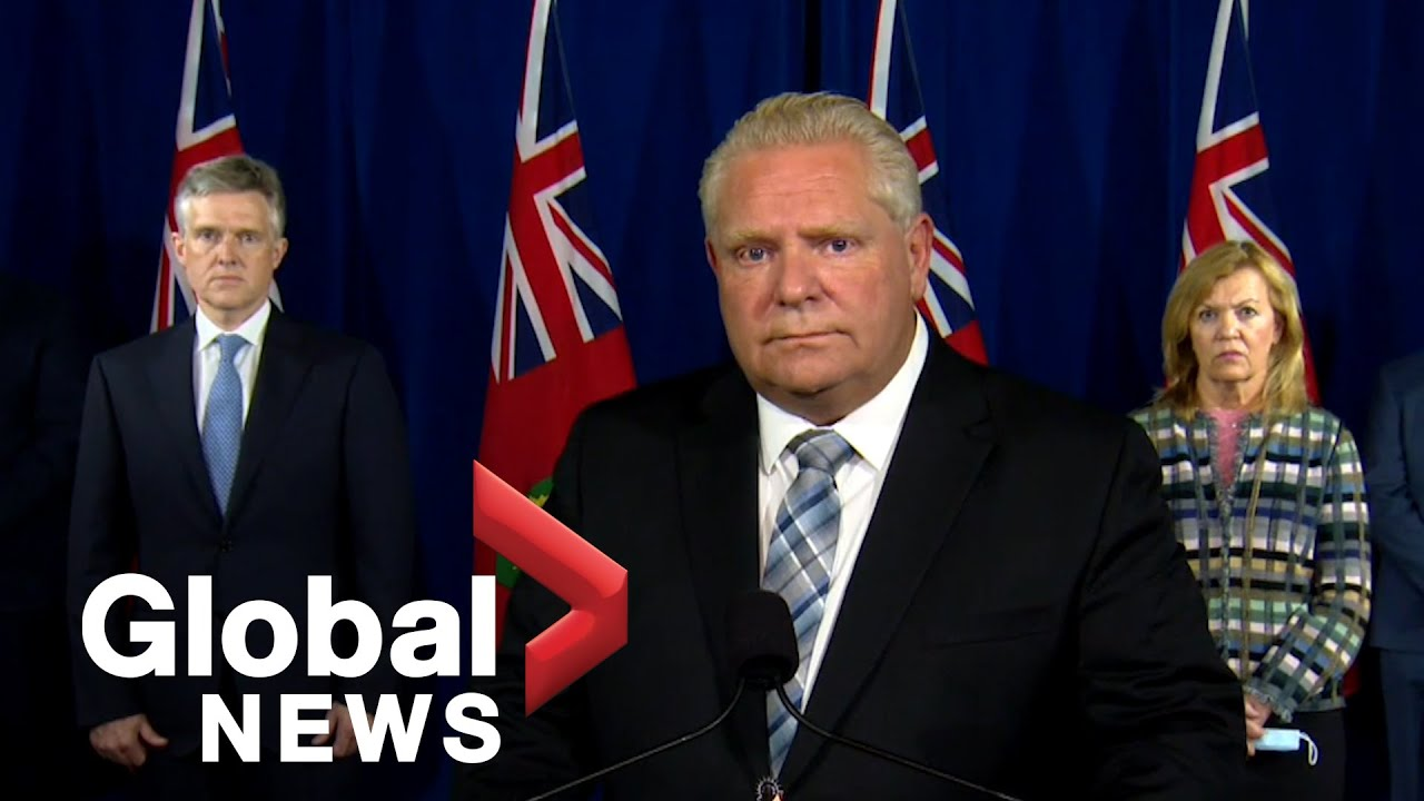 Coronavirus Ontario Premier Doug Ford Says New Restrictions Due To Alarming Rise Of Cases Full Youtube
