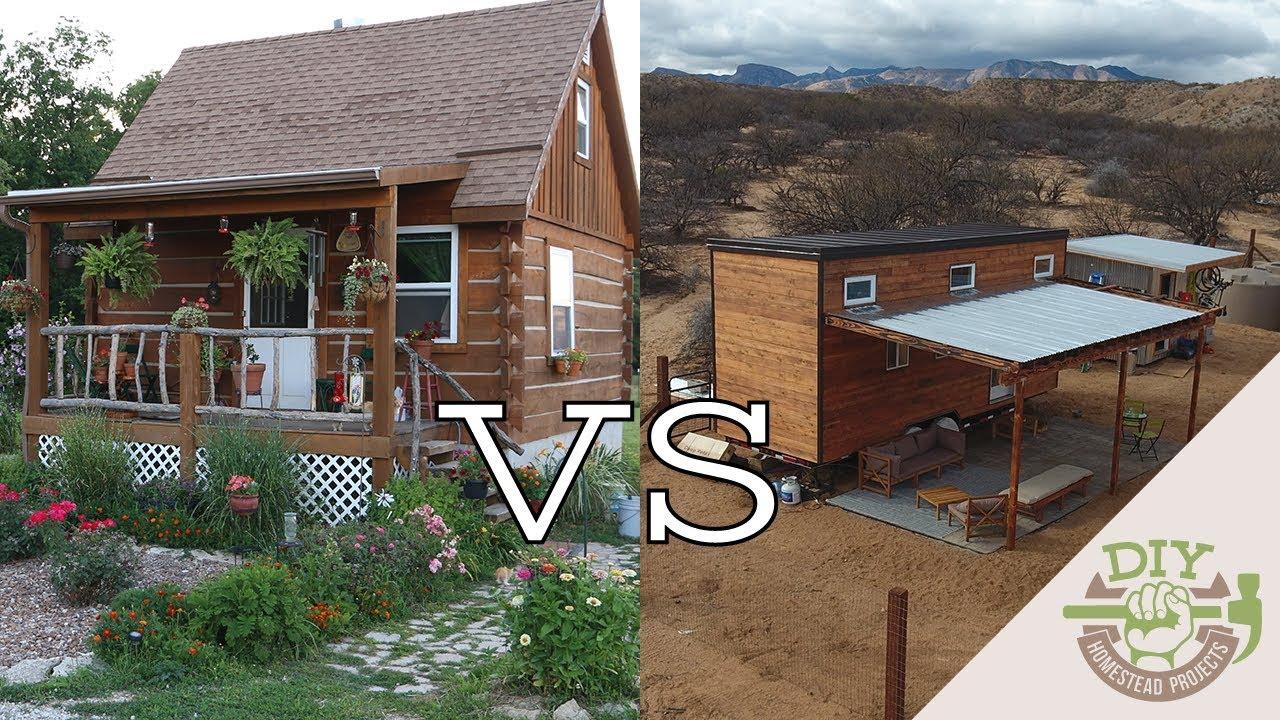 Tiny house on foundation vs tiny house on wheels youtube for Tiny house on foundation